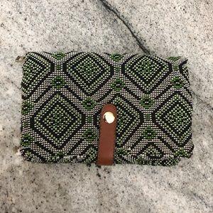 Geometric Woven Handbag